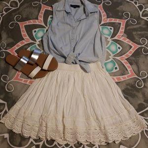Dresses & Skirts - NWOT CREAM MINI SKIRT